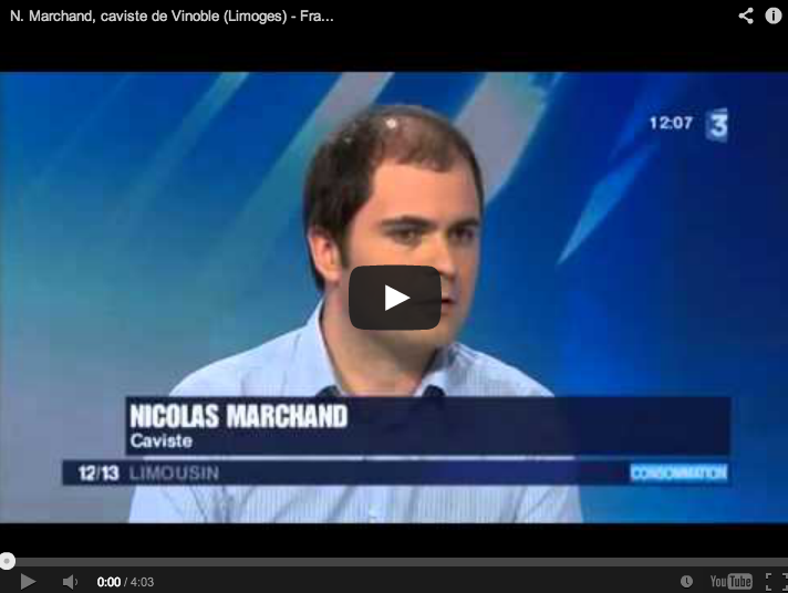 nicolas marchand vinoble limoges france 3 limousin